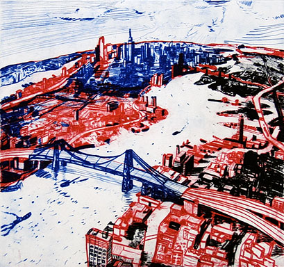 John Hartman: New York from above the Williamsburg Bridge, 2008