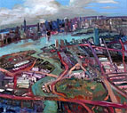 John Hartman: The East River and the BQE, 2008