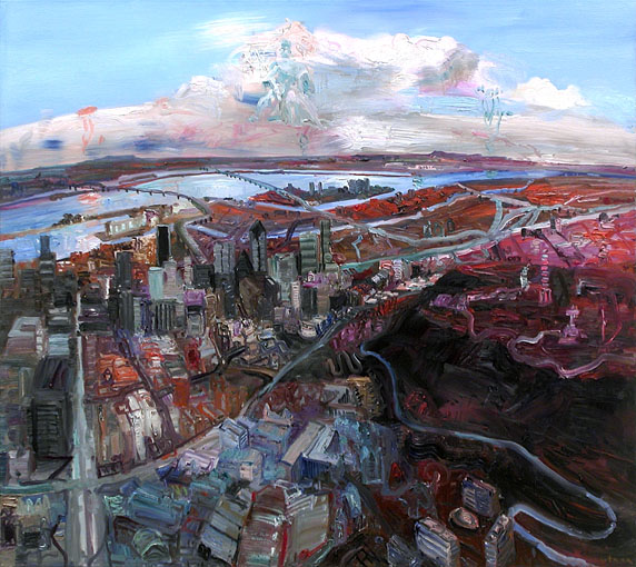 John Hartman: Montreal from above McGill, 2008