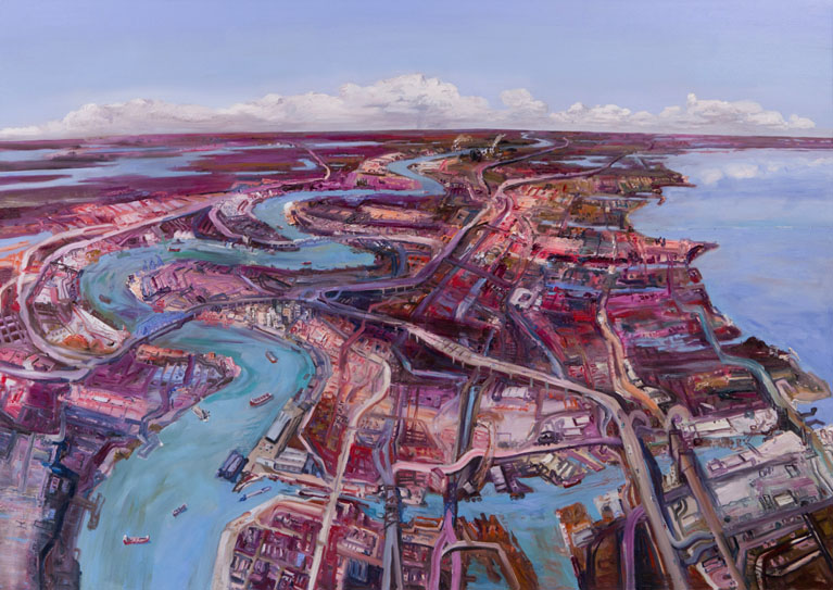 John Hartman: New Orleans From Above The Industrial Canal, Looking North, 2013