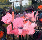 John Hartman: Pink Poppies and Trellis, 2007