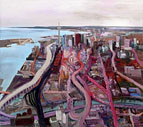 John Hartman: Toronto from above Eastern Ave, 2009