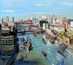 John Hartman: The View up the Thames from Tower Bridge, 2009